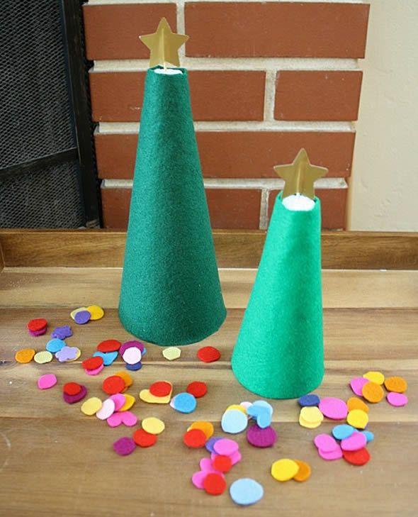 Confeccionando uma Árvore de Natal infantil passo a passo