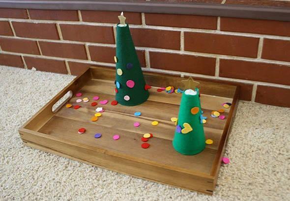 Criando linda Árvore de Natal em miniatura
