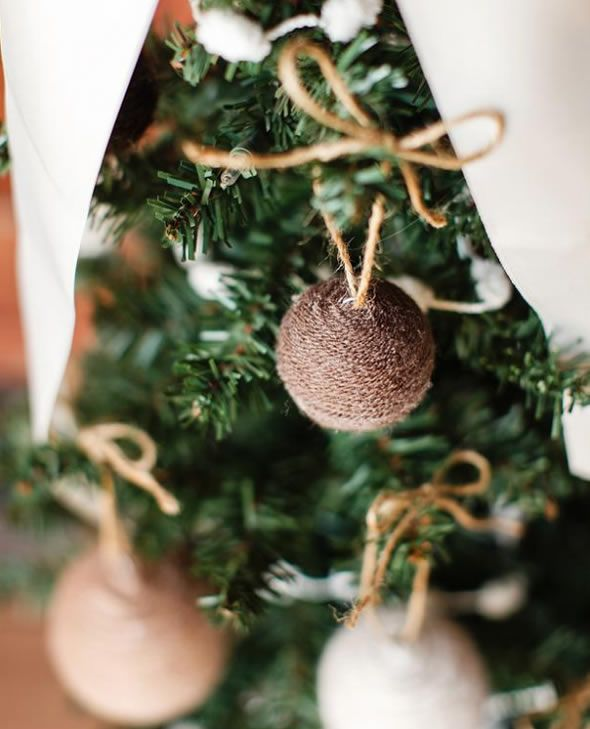 Bolas de Natal customizadas passo a passo