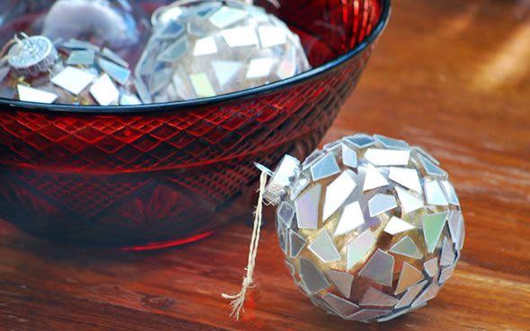 Bolas de Natal personalizadas passo a passo