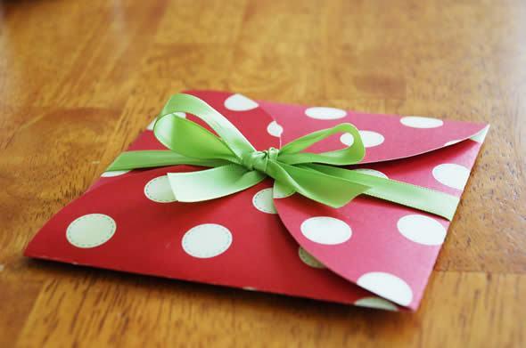 Envelope artesanal passo a passo para Cartão de Natal