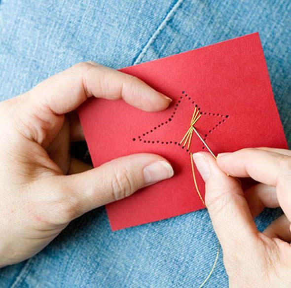 Confeccionando Cartão de Natal passo a passo