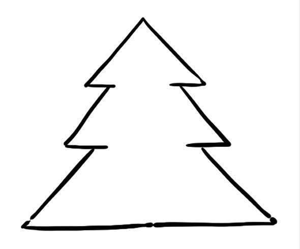 Árvore de Natal desenho para fazer em casa