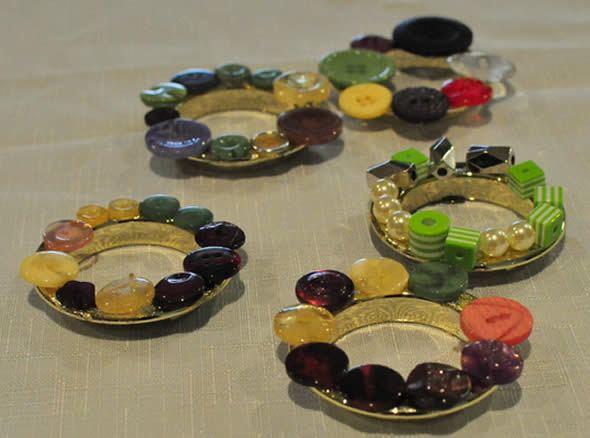 Decoração com botões para o Natal