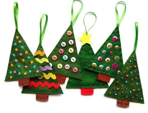 Passo a passo de enfeite com feltro para a Árvore de Natal