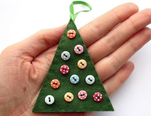 Arvorezinha de feltro para enfeitar Árvore de Natal