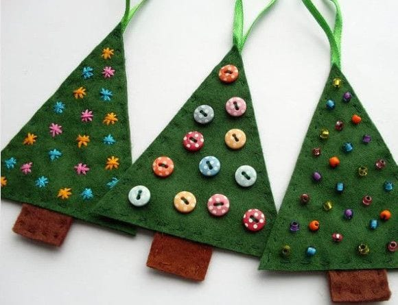 artesanatos para Natal - árvore de natal em tecido