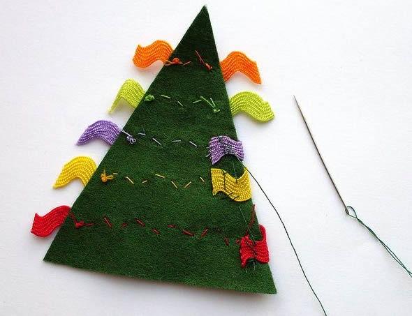 Enfeite de Feltro para o Natal