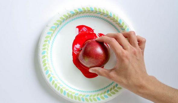Utilize maçãs para criar lindas estampas