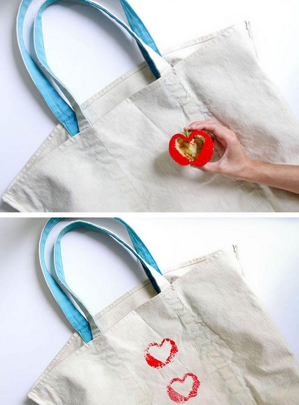 Colocando as estampas no tecido