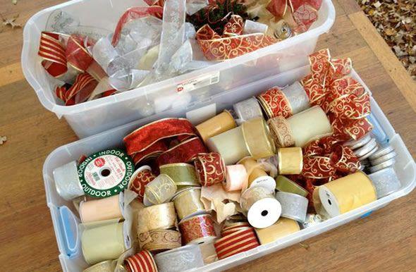 Fitas de tecido para decoração natalina