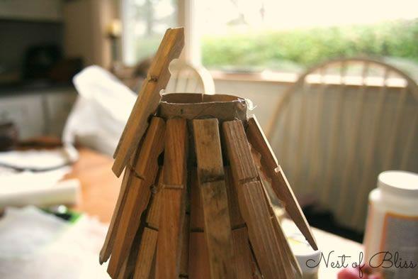 Criando o topo da árvore de Natal artesanal