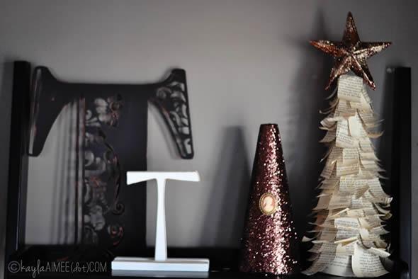 Árvore de Natal de papel para enfeite passo a passo