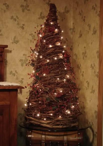 Árvore de Natal de cipó