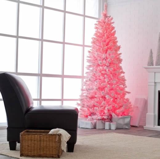 Árvore de Natal rosa para o Signo de Touro