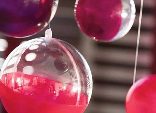 Bolas de Natal decoradas passo a passo