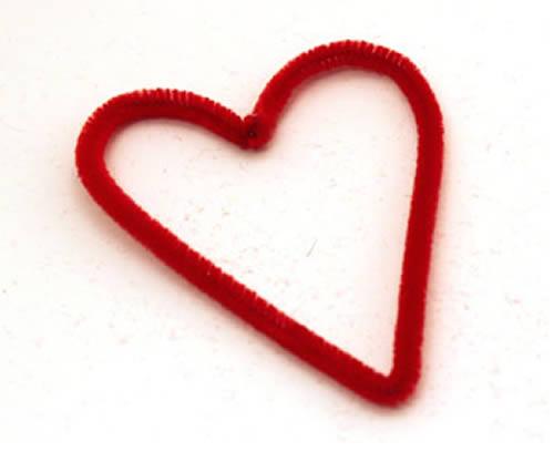 Coração de limpador de cachimbo