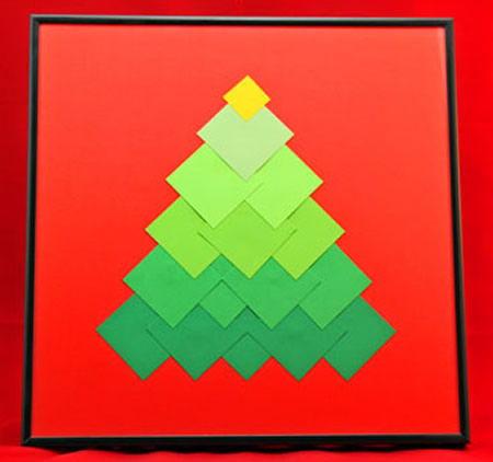 Decoração de Natal para a casa fácil com papel colorido