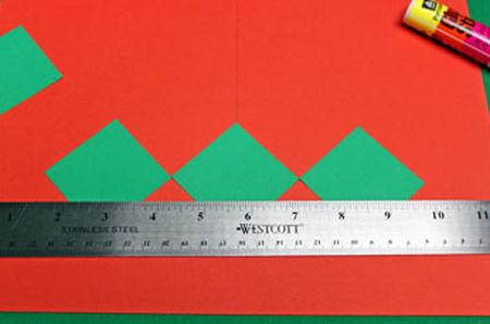 Decoração com papel colorido para o Natal