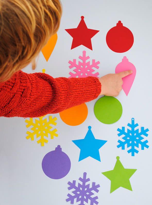 Enfeites coloridos para enfeitar o Natal