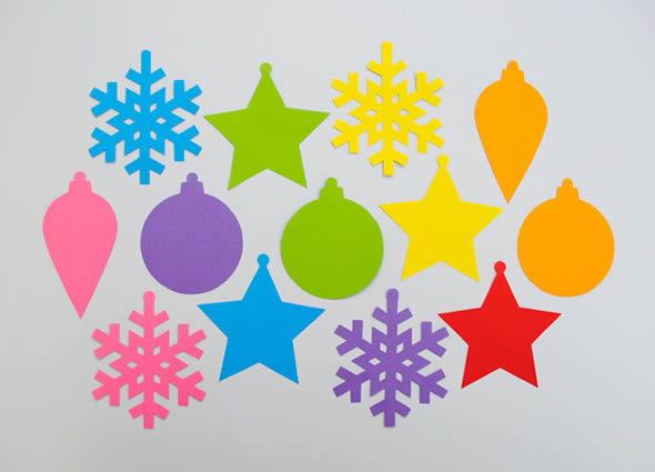 Enfeites coloridos para o Natal