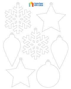 Moldes para criar lindos enfeites de Natal com papel