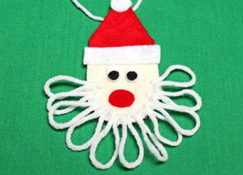 Compondo uma linda barba para o Papai Noel
