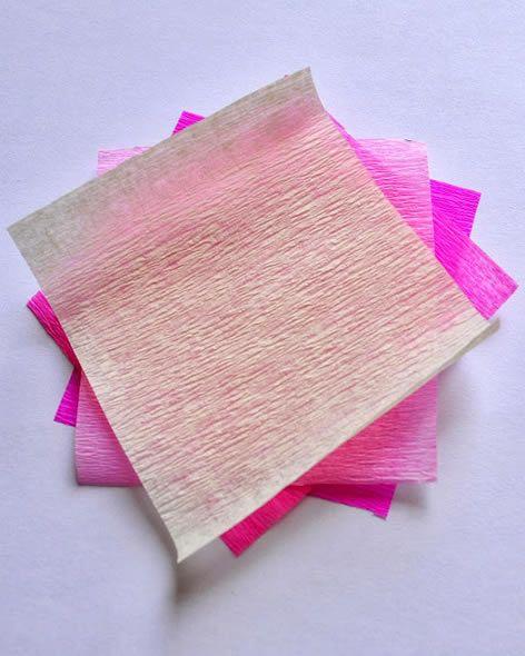 Criando artesanato com papel crepom
