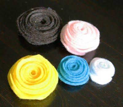 Florezinhas de feltro coloridas passo a passo