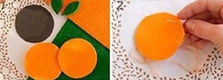 Como fazer uma linda laranjinha de feltro