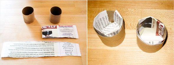 Passo a passo para criar orta com rolinhos de papelão