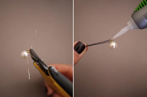 Artesanato com berilos passo a passo para fazer acessório de cabelo