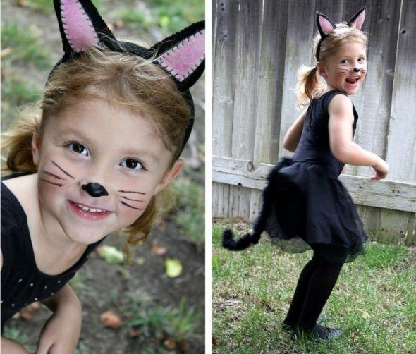 Linda fantasia de gatinha para o Carnaval