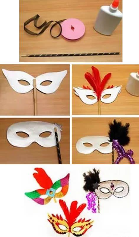 Passo a passo de máscara de Carnaval