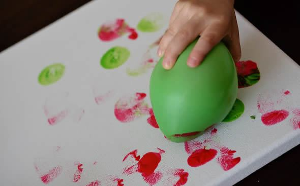 Pintando e criando a arte