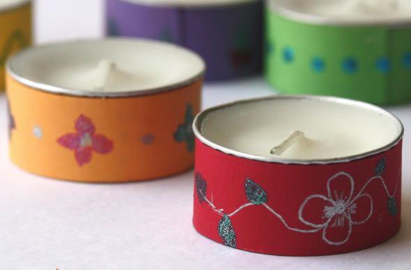 Velinhas chás decoradas de maneira fácil