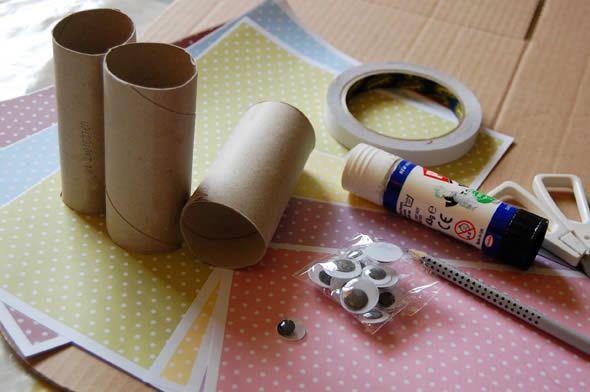 Materiais para fazer um artesanato infantil
