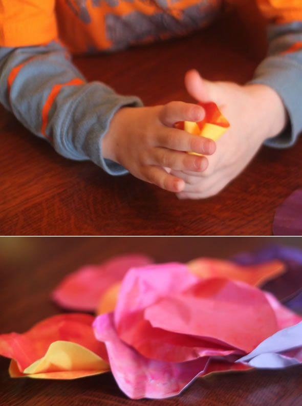 Criando as flores de papel passo a passo