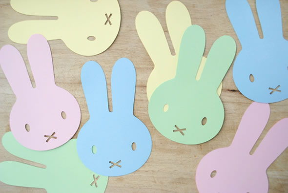 Coelhinhos recortados para artesanato