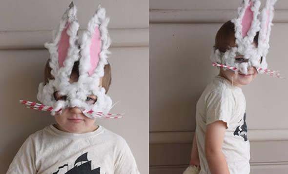 Como fazer máscara de coelhinho da Páscoa