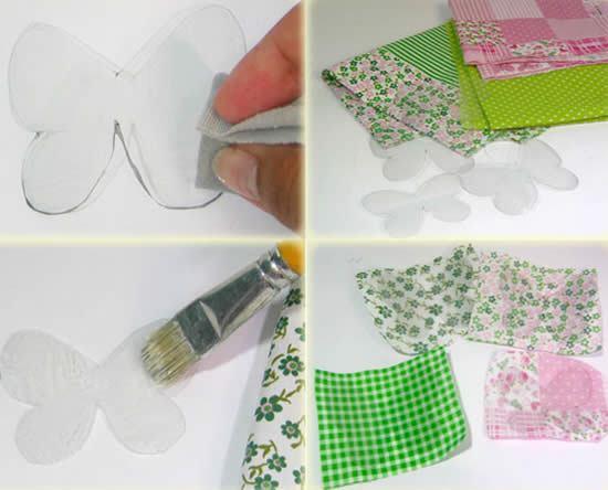 Como Fazer Borboletas Com Garrafa Pet E Tecido Passo A Passo