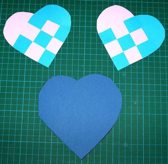 Cartão coração passo a passo