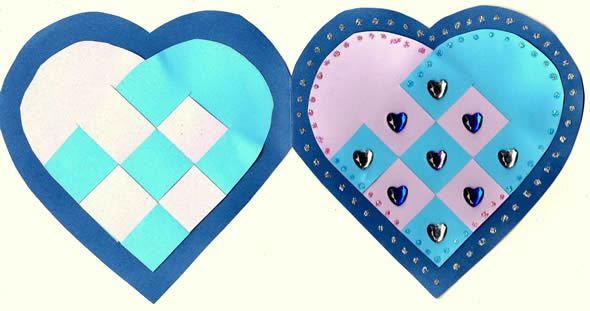 Cartão coração para fazer com crianças passo a passo