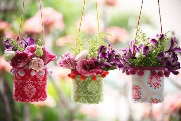 Artesanato reciclável para fazer arranjo de flores