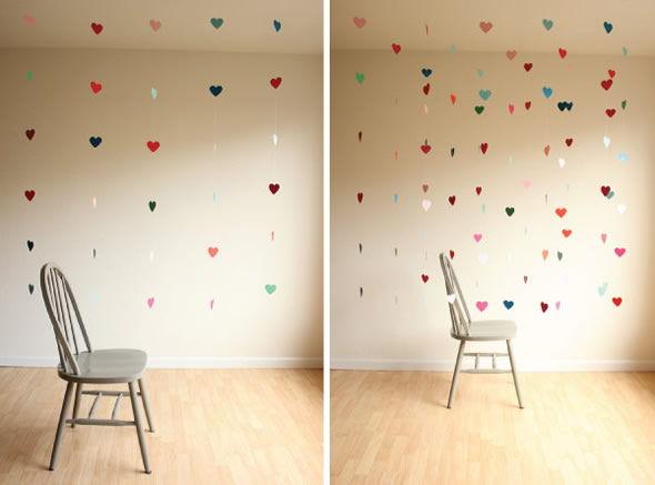 Decoração para o Dia dos Namorados com corações