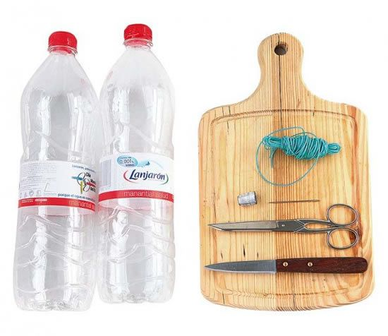 Armario Com Espelho Para Banheiro Na Leroy Merlin ~ Reciclagem de garrafas PET para fazer vasos de plantas