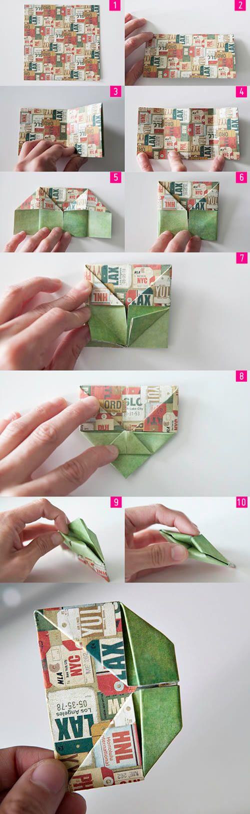 Criando a letra D com origami