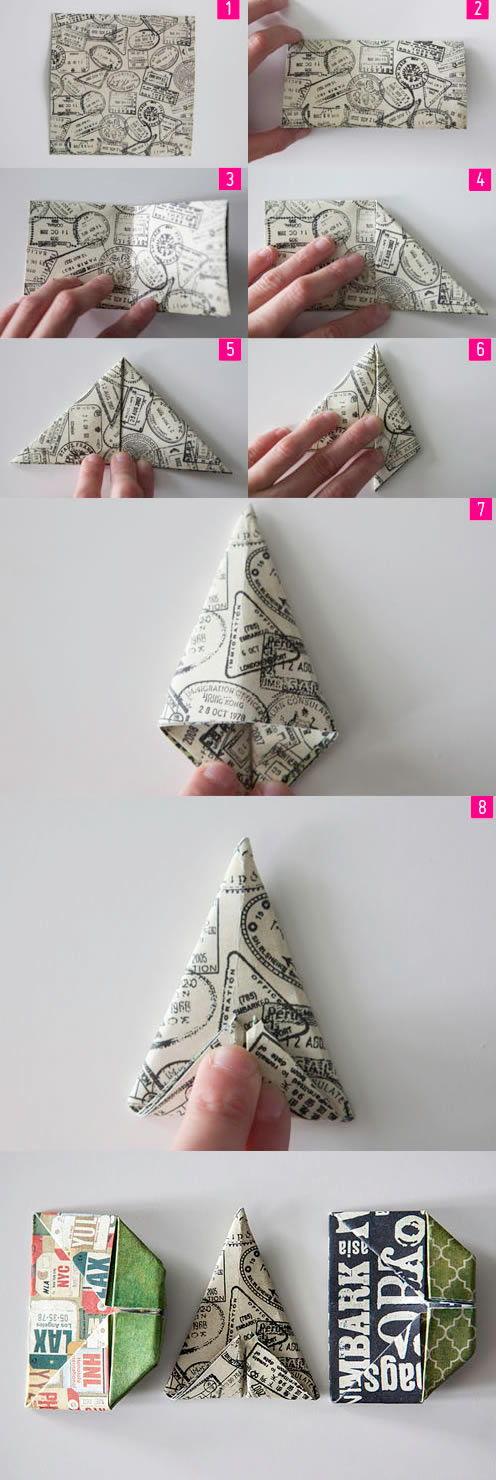 Passo a passo para criar a letra A com origami