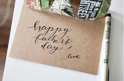 Cartão personalizado para o Dia dos Pais