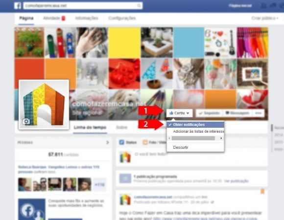 receber notificações no facebook